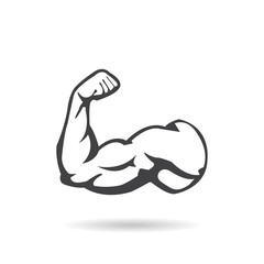 Muscle icon with shadow