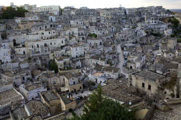 View over the Sassi of Matera in Basilicata, Italy, Europe