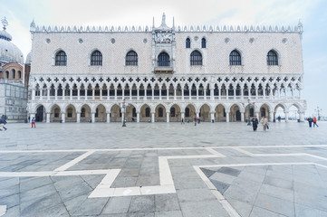 Fototapete - Doge's Palace on San Marco square, Venice, Italy