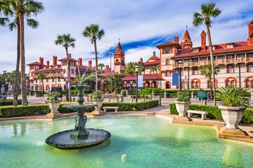 St. Augustine, Florida, USA downtown plaza.