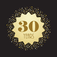 30 YEAR ANNIVERSARY Vector Icon