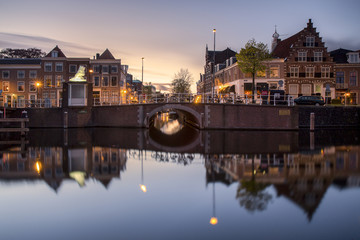 The port area of Haarlem,  North Holland, Netherlands
