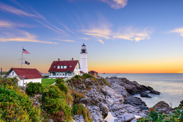 Foto op Canvas Vuurtoren Portland Head Light in Portland, Maine, USA.