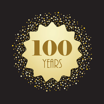 100 YEARS VECTOR ICON