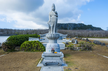 World War II memorial at the Banzai Cliffs on Saipan, Northern Marianas, Central Pacific, Pacific