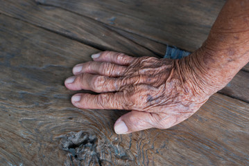 Hand old man