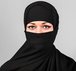 Niqab, saudi, muslim.