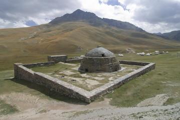 Caravanserei Tash Rabat on the Torugart Pass, Kyrgyzstan, Central Asia