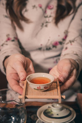 tea ceremony is performed by master