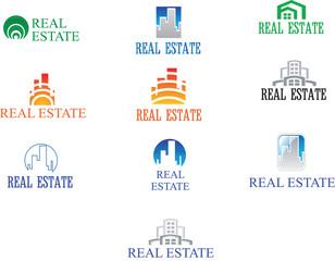 Real Estate Logo Set. Creative House Logo Collection. Abstract B