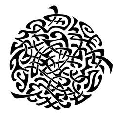 Abstract Maori styled tattoo pattern