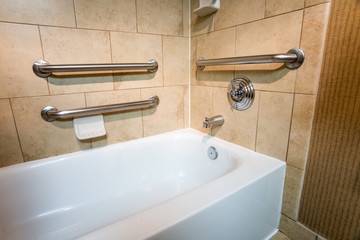 Handicapped Access Bathtub in a Hotel Room