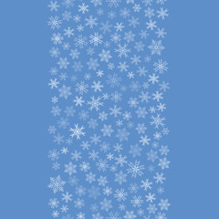 happy new year, line of snowflakes, pattern