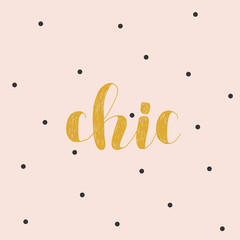 Chic. Brush lettering vector illustration.