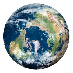 Planet Earth with clouds, North Pole - Pianeta Terra con nuvole, Polo Nord