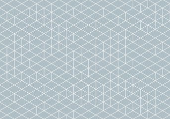 Abstract Isometry Wireframe Drawing Wall mural
