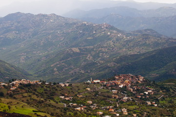 Small mountain villages in the mountains of the Kabylia, Algeria, North Africa, Africa