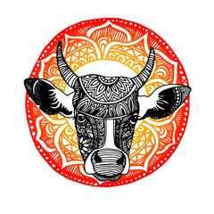 cow, vector, cartoon, farm, cute, animal, illustration