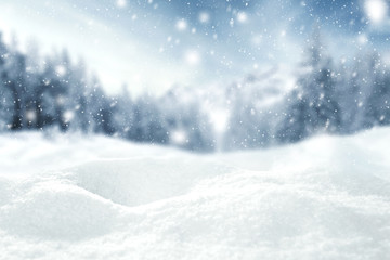 winter space of snow