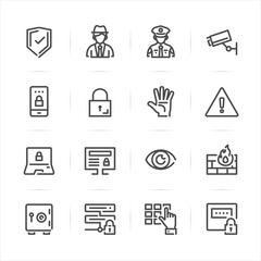 Security icons with White Background