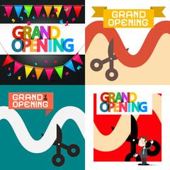 Grand Opening Vector Designs Set