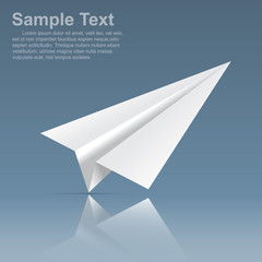 startup business concept, paper  plane was to soar Success