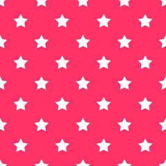 Seamless stars pattern background pink