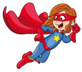Vektor Illustration einer starken Superheldin