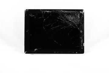 A harshly broken tablet