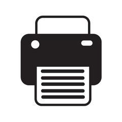 Fax print icon illustration design