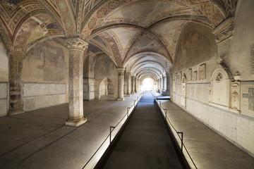 Italia,Toscana,Firenze,chiesa di Santa Maria Novella,il chiostro dei morti.
