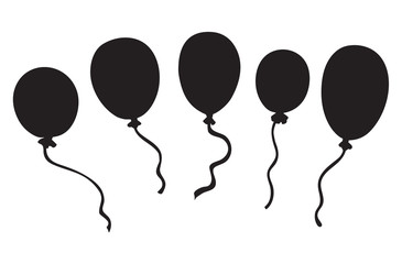 Inflatable balloon. Vector drawing