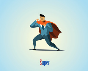 Vector illustration of businessman superhero.