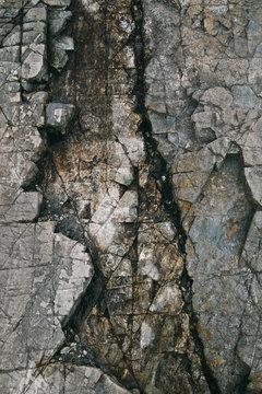 texture of old wet rock