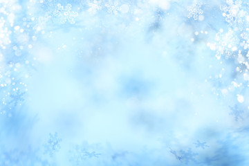 Snowflake Background, Abstract Winter Snow Flake