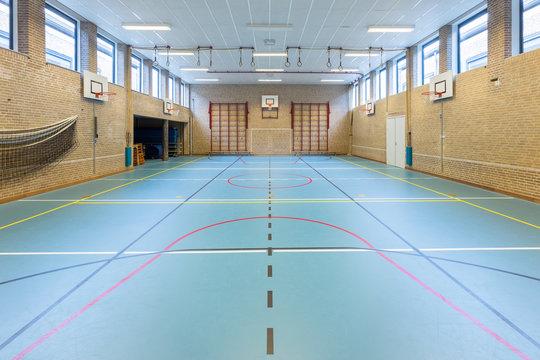 Interior dutch gymnasium for school sports