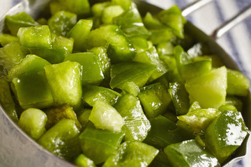 chopped green bell pepper
