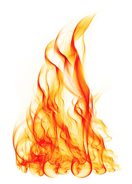 Flame isolated on a white background