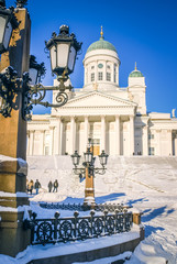 Large cathedral in winter
