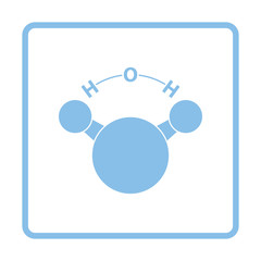 Icon of chemical molecule water