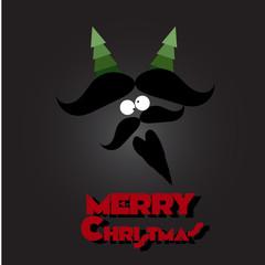 Merry Christmas mustache and beard