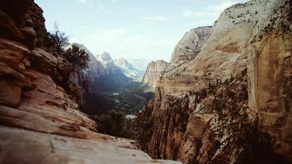 view from Angels Landing Yosemite Fotoväggar