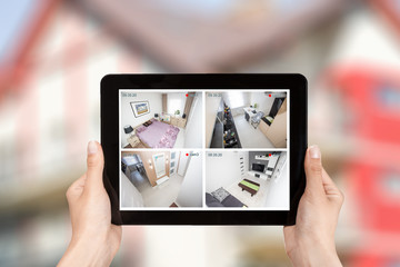 home camera cctv monitoring monitor system alarm smart house vid