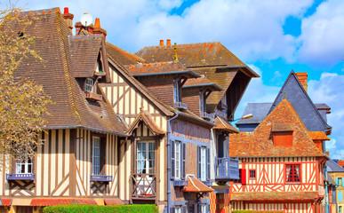 Maisons à colombage à Pont-l'Évêque, Calvados, Normandie Fototapete