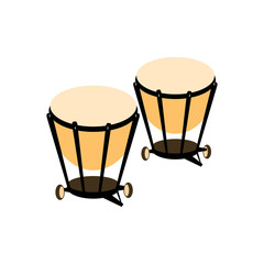 Percussion drum icon. Vector illustration.