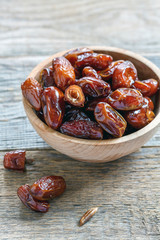 Dried date fruit.