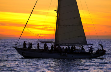Sailboat Sunset Party People