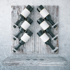Aged wooden wine rack