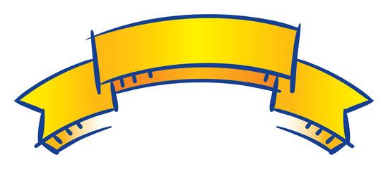 blue banner ribbon vector