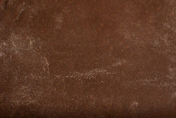 Texture of chocolate pastry for cookies.